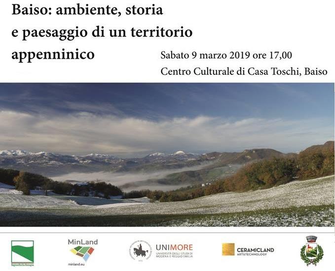 """Presentazione libro """"Baiso: ambiente, storia e paesaggio di un territorio appenninico"""""""