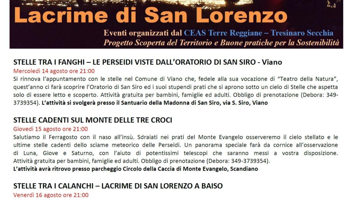Le lacrime di San Lorenzo con il CEAS